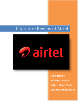 review of literature on airtel