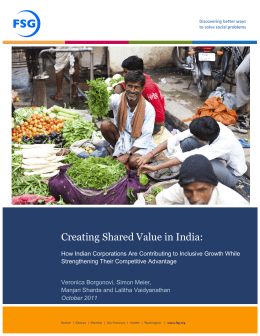 - Shared Value Initiative