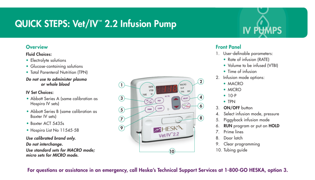quick steps vet iv 2 2 infusion pump rh studylib net Heska Intranasal FVRCP for Cats Heska's Redlands CA