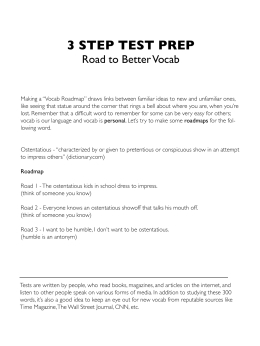 Vocab Roadmap - 3 Step Test Prep