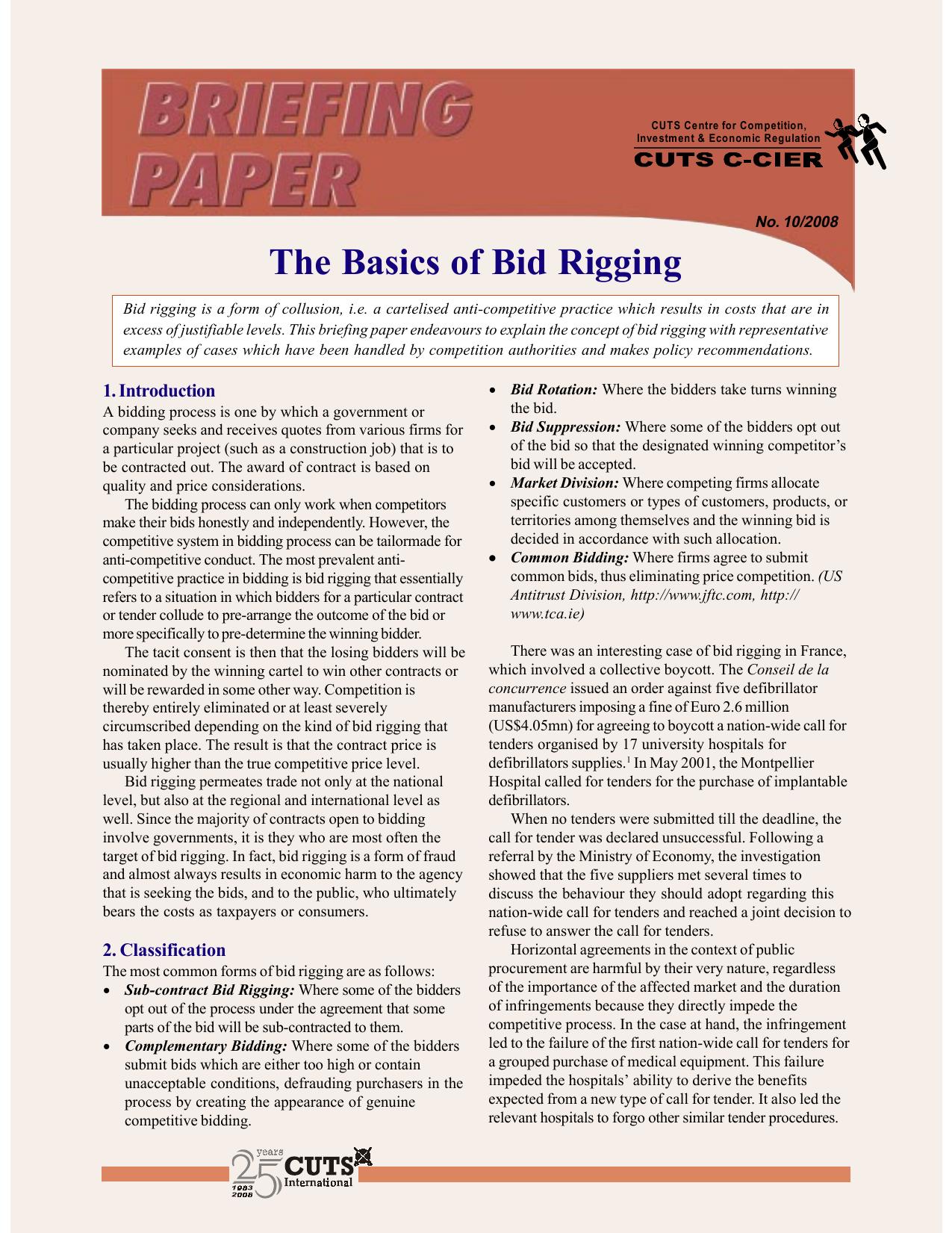 The Basics Of Bid Rigging
