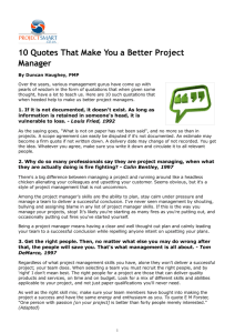 10 Quotes That Make You a Better Project Manager