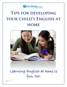 Learning English at home is fun, too!