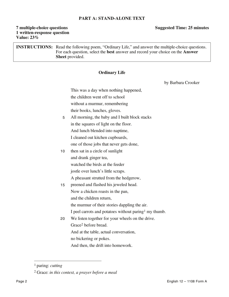 best answer sheet