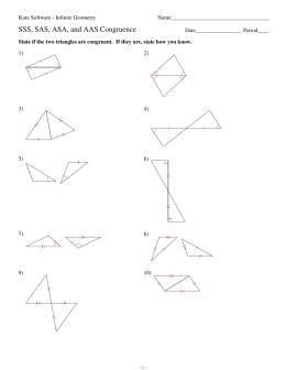 Geometry Fall 2012 Review Chapter 4 Test