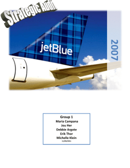 jetblue airline general environment analysis