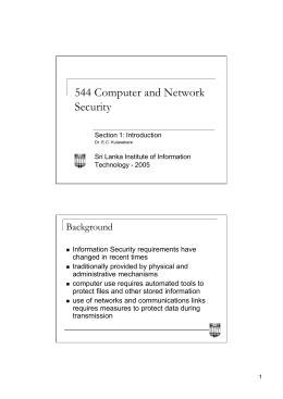 544 Computer and Network Security