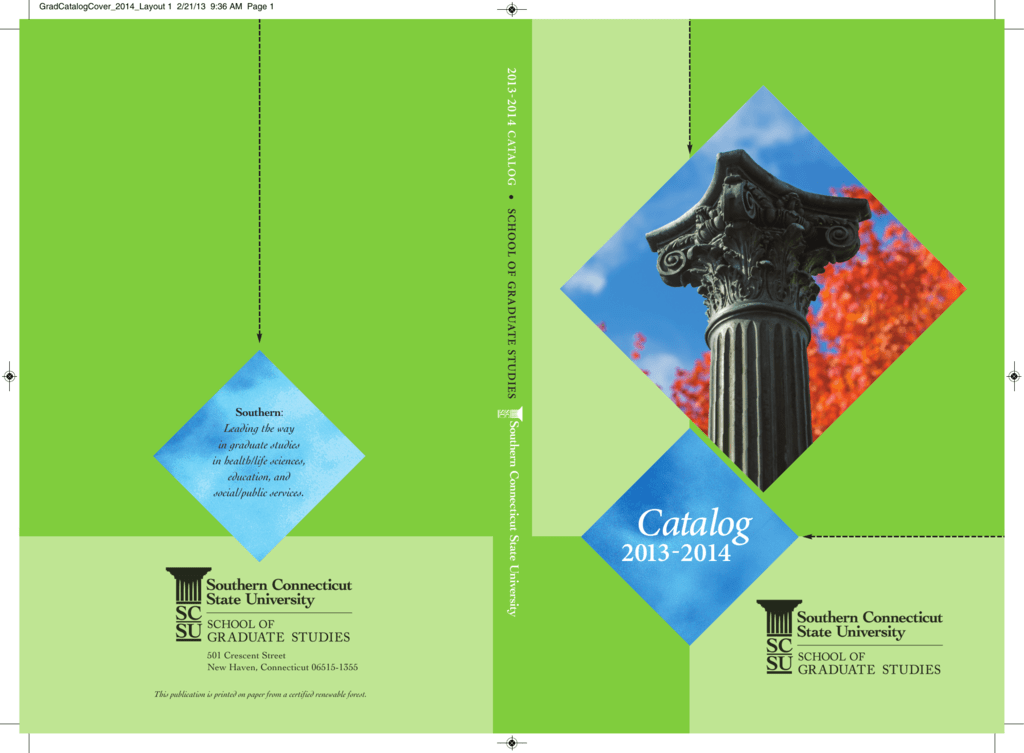 Catalog Southern Connecticut State University