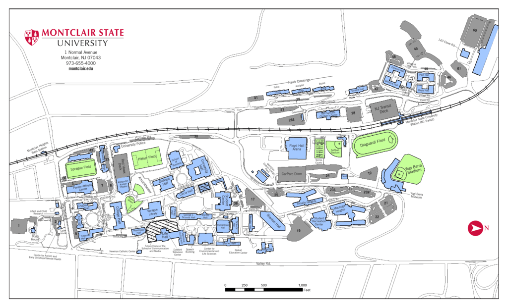 Montclair State University Campus Map Pdf.Montclair State University Campus Map Park Map