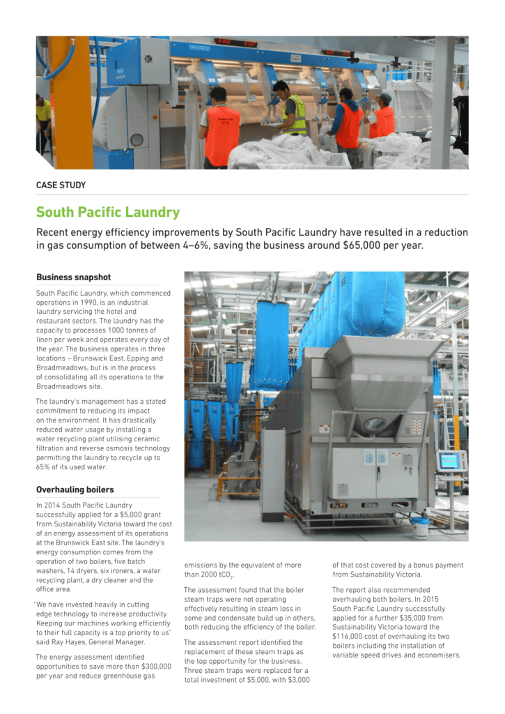293KB South Pacific Laundry case study