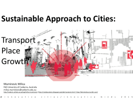 Sustainable Approach to Cities