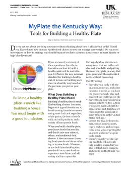 MyPlate the Kentucky Way - UK College of Agriculture