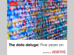 The state of the Data Deluge today