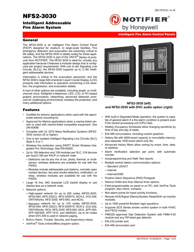 NFS2-3030 - Notifier