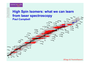 High-spin isomers: What we can learn from laser spectroscopy (pdf