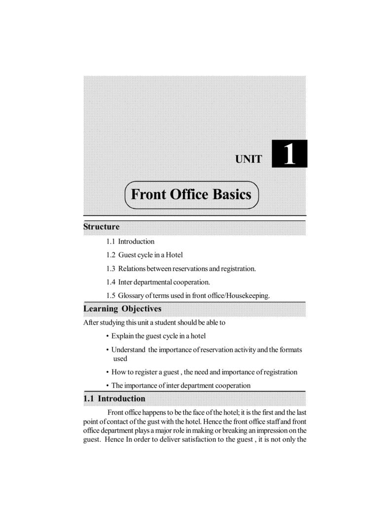Front Office Basics