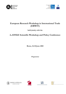 (ERWIT) 2nd EFIGE Scientific Workshop and Policy
