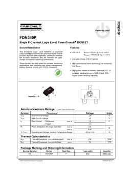 FDN340P Single P-Channel, Logic Level, PowerTrench&#174