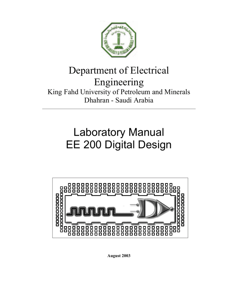 Ee200 Lab King Fahd University Of Petroleum And Minerals Logic Diagram Ic 7483