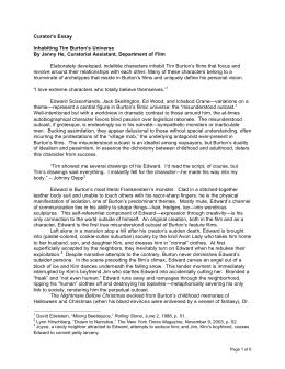 Tim Burton Style Analysis Film Essay Curators Essay Inhabiting Tim Burtons Universe