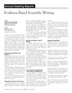 Evidence-Based Scientific Writing