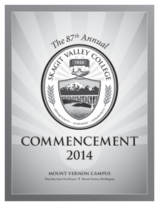 commencement 2014 - Skagit Valley College