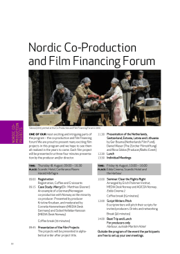 NNF2011 – Nordic Co-Production and Finance