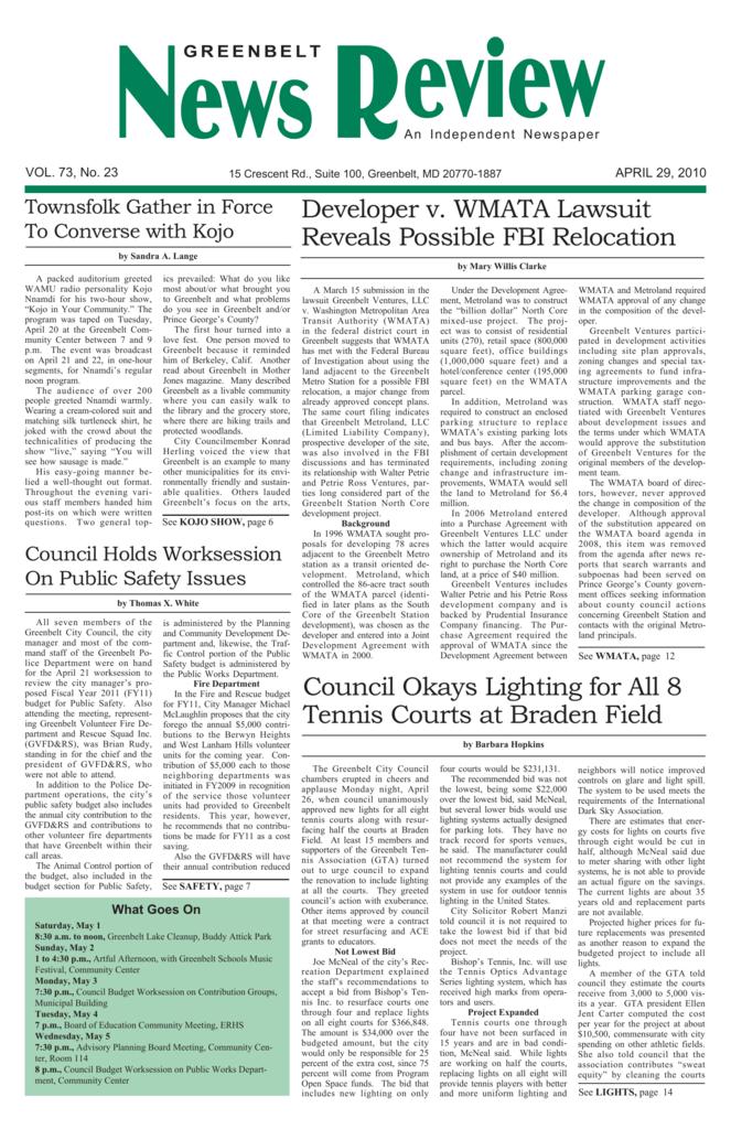 April 29 - Greenbelt News Review