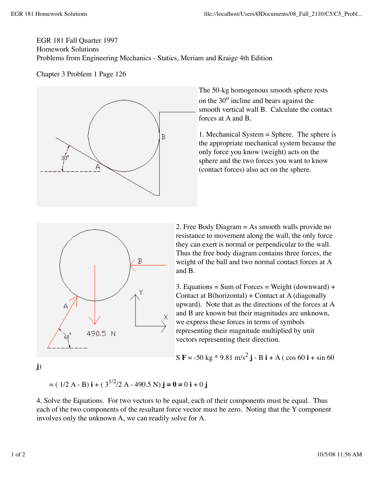 Free body diagram problems and solutions engineering mechanics steps to construct free body diagram ignment help pooptronica