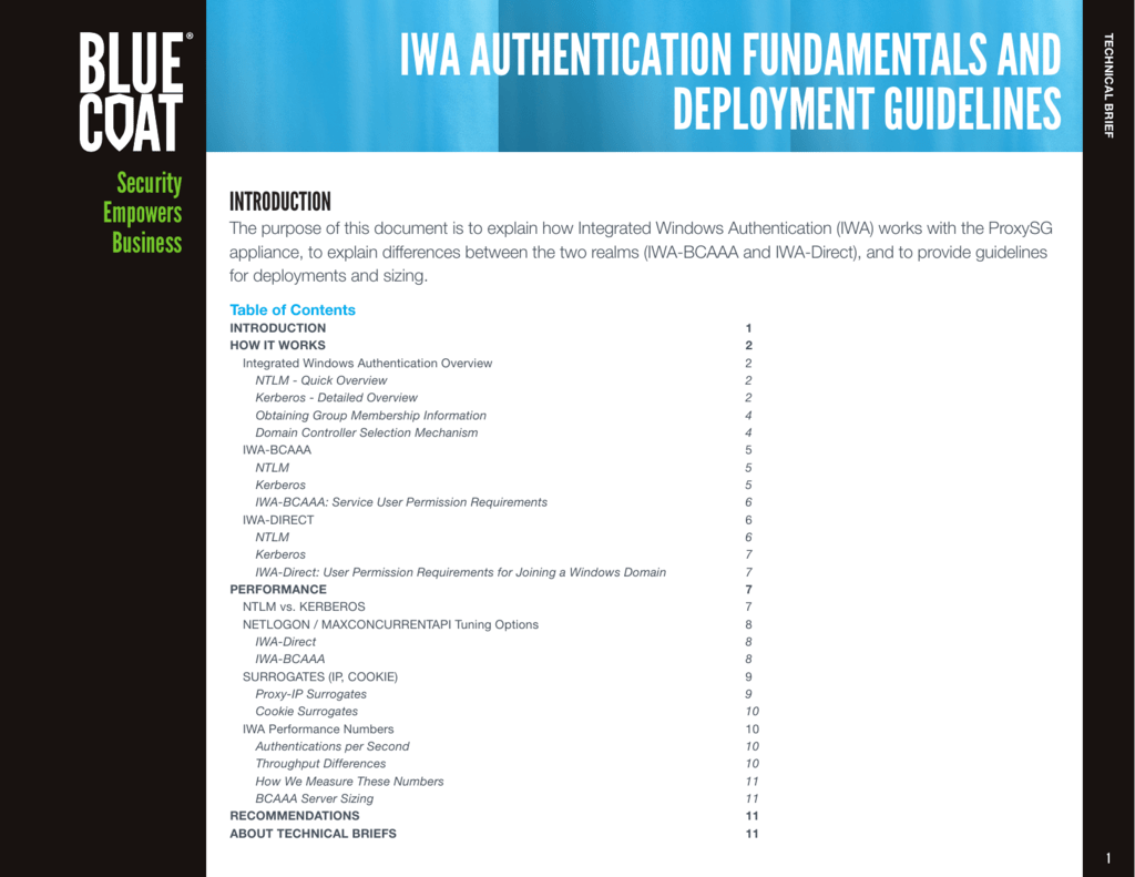 iwa authentication fundamentals and deployment guidelines