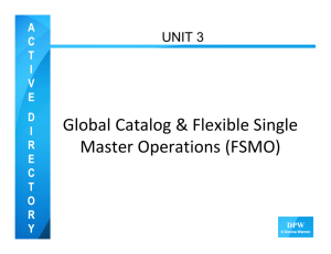 Global Catalog and FSMO