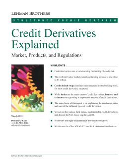 credit derivatives research paper