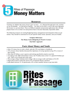 Resources Facts About Money and Youth