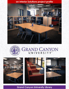 an Interior Solutions project profile Grand Canyon University Library