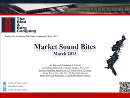 PDF Format - The Blau & Berg Company