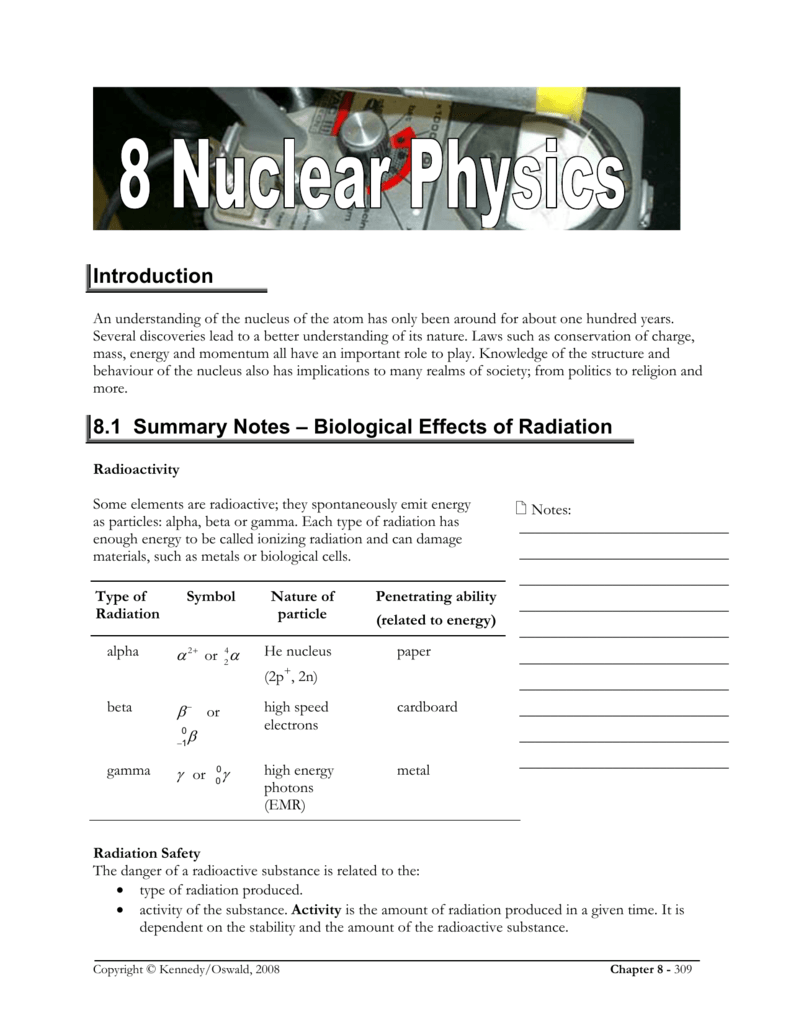 Introduction 81 Summary Notes Biological Effects Of Radiation Diagram Showing The Process By Which A Geiger Counter Works
