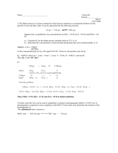 Chem 202 Section: ______ Quiz 8 10/31/2008 1) The Haber