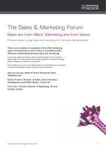 The Sales & Marketing Forum