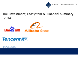 BAT Investment, Ecosystem & Financial Summary 2014