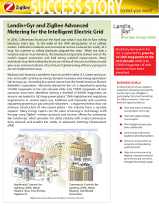 Landis+Gyr and ZigBee Advanced Metering for the Intelligent