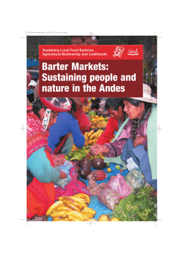 Barter Markets: Sustaining people and nature in the Andes