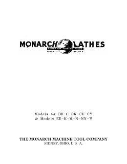 the monarch machine tool company