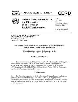 CERD/C/RUS/CO/19 - Office of the High Commissioner on Human
