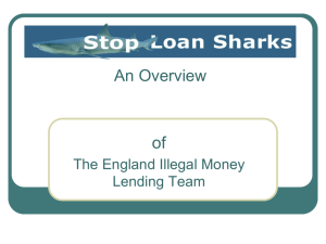 Illegal money-lending presentation