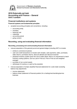 2016 Externally set task Accounting and Finance – General Unit 3