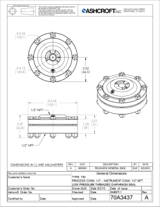 Drawing Diaphragm Seal 50 740 04T
