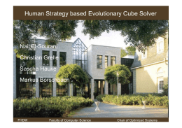 Human Strategy based Evolutionary Cube Solver