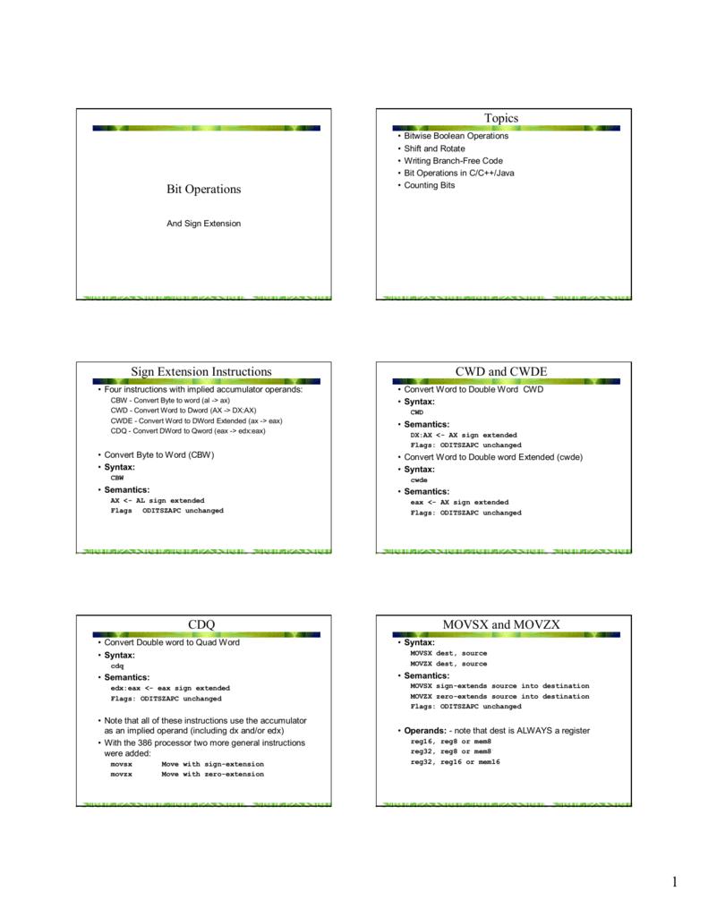 Bit Operations - University of Maine System