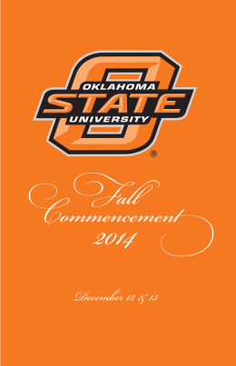 Fall 2014 - Graduation and Commencement