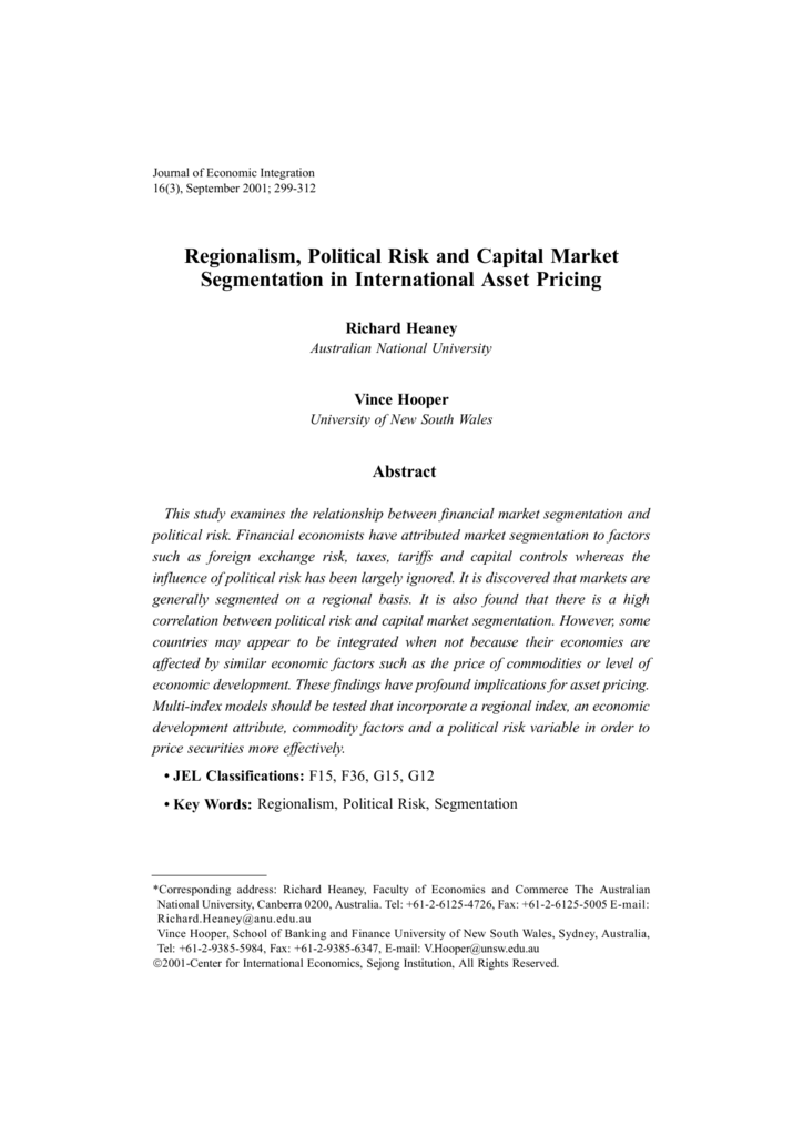 PDF Links - Journal of Economic Integration